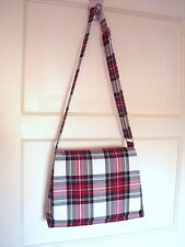 Tartan Messenger bag Stewart Dress Cross body Bag Shoulder bag handmade plaid