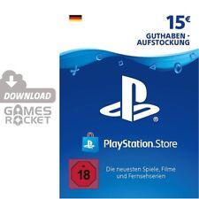 15€ PSN DE Playstation Network Code Card 15 Euro € EUR   PS4, PS3, Vita Guthaben