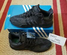 New Adidas Black Shoes EQT Support ADV Core Black/Sub Green Size 12 BY9589