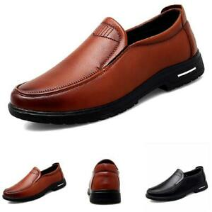 Mens Pumps Slip on Loafers Breathable New Driving Moccasins Faux Leather Shoes D