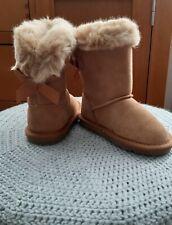 💕 Next Girls Furry Warm Boots Shower Resistant Infant Size 6 EUR 23 BNWT 💕