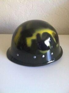 Camo Army Costume Helmet Deluxe Adjustable Soldier Military Plastic Hat
