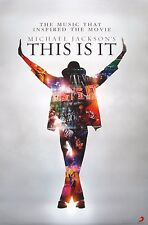 """MICHAEL JACKSON """"THIS IS IT"""" HONG KONG PROMO POSTER: Silouhette Of MJ, Arms Up"""