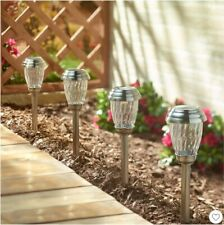 6 Pack Charleston Solar Pathway LED Lights Pewter Finish