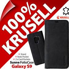 Krusell Sunne Cartera de Piel Genuina Soporte Funda Libro para Samsung Galaxy S9
