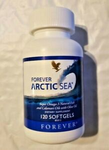 Forever Arctic Sea 120 Softgels Omega-3 to Lower Cholesterol HALAL Exp. 2022