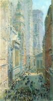 Lower Manhattan by Childe Hassam Giclee Fine Art Print Reproduction on Canvas