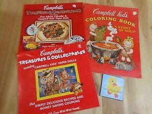 Vintage Campbells Soup Collectibles Paper Dolls Advent Calendar Coloring