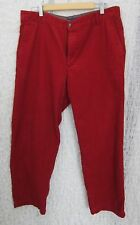 IZOD Corduroy Mens Pants Red Straight Fit Size 36x29