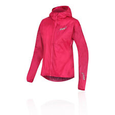Inov8 Womens Windshell Full Zip Running Jacket Top Pink Sports Windproof