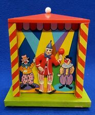 Vintage Wind Up Dancing Circus Clown Coin Piggy Bank Music Box