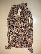 GOTTEX Leopard Sahara Sleeveless Swim Beach Dress Coverup  Sz Small NWT
