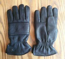 Mens Black Leather Gloves Size S. Driving gloves