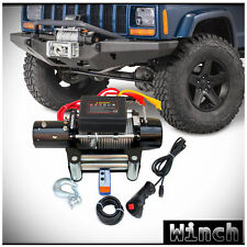 WIN-2X 9500lb 12V Electric Recovery Waterproof Winch Kit w/ Steel Cable & Remote