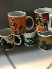Star Wars 5 Set Coffee Cup Mugs 2011 Science Fiction Collectable Microwavable