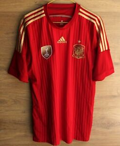 SPAIN NATIONAL TEAM 2014/2015 HOME FOOTBALL SHIRT JERSEY ADIDAS SIZE L ADULT