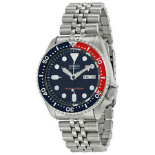Seiko SKX009 Automatic Blue Red Dial Stainless Steel 200m Diver Watch SKX009K2