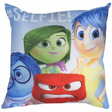 Disney Inside Out 35cm x 35cm Square Blue Green Red Yellow Filled Cushion