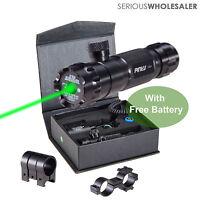 Tactical Green Dot Laser Sight Rifle Gun Dot Scope Picatinny Rail Free Batteries
