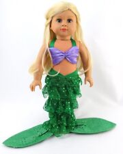 Little Mermaid Costume for 18 inch Doll Clothes American Girl Lovvbugg Low Price