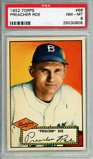1952 Topps #66 Preacher Roe PSA 8 NM-MT *Very High End* Brooklyn Dodgers