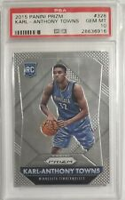 2015-16 Panini Prizm Karl-Anthony Towns Rookie PSA 10 Gem Mint #328
