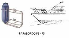 PORTA PARABORDI F2-F3 RECLINABILE 3 POSTI IN ACCIAIO INOX - NAUTICA BARCA