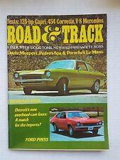 Road & Track Sept 1970 Mercedes-Benz 280SE  454 Corvette  Ford Pinto  Chevy Vega