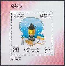 Bahrain 1996 ** Bl.9  Perlentaucher Pearl Diving Lampe