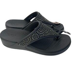 Crocs Women's Monterey Embellished Thong Sandal 11