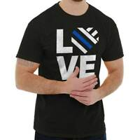 Love Support Thin Blue Line Police Hero Lives Matter Classic T Shirt Tee