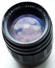 PENTAX M42 SCREW MOUNT ASAHI OPT. CO., TAKUMAR 105mm f/2.8 TELEPHOTO PRIME LENS