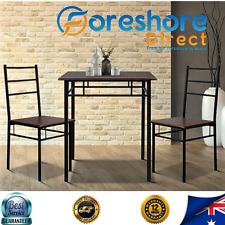 Small Dining Table & 2 Chair Set Industrial Look Table Unit Student Caravan NEW