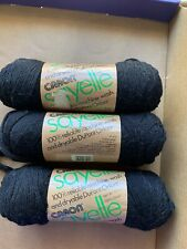 Discontinued Caron Sayelle Yarn!  LOT of 3! Color is Black! Pretty!