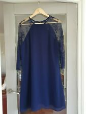 Little Mistress BNWOT lined with lace sleeves dress size 18