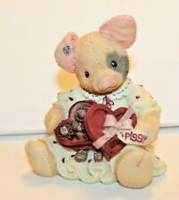 "Nos 1995 Enesco This Little Piggy Boxed ""You're Sow Sweet"",Girl Pig w/Box Candy"