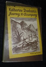 Katherine Dunham Signed Inscribed Book - Journey to Accompong - RARE