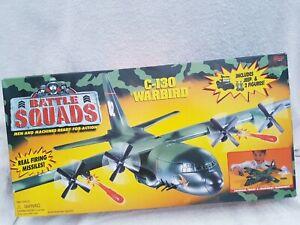 Galoob Battle Squads 78070 Ex Shop Stock C-130 Warbird Plane Jeep & Figures