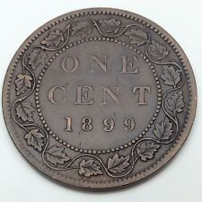 1899 Canada Copper Large One 1 Cent Canadian Circulated Penny Coin B836