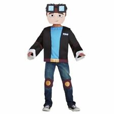 Tube Heroes Dan TDM Minecraft Halloween Costume YouTube Gaming Small 4-6