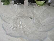 Crystal salad bowl/platter large flower design
