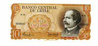 Chile … P-143r … 10 Escudos … ND(1970) … *UNC*  Replacement R.