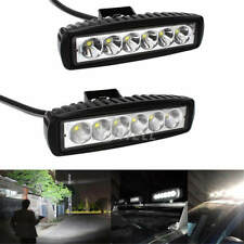 2Pcs 18W 6LED Spot Light Work Bar Lamp Driving Fog for Offroad SUV 4WD Car Truck