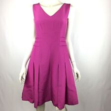 Anne Klein New York Womens 2 Magenta A Line Pleated Dress Sleeveless NWT $395