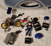 PLAYMOBIL  Special Police SWAT Carrying Storage Case Play Set  Good Condition