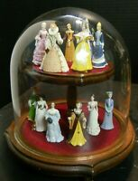 Vintage Franklin Mint Set of (12) The Ladies Of Fashion Figurines Display Dome