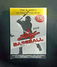 2020 Leaf 1/1 BGS Slabbed PROOF Leaf Metal Draft + 10 Card 1990 Retro Set  READ!