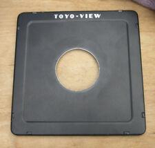 original Toyo monorail  fit 5x4 10x8 lens board large compur 2   52.8mm hole