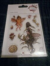 SHEET OF CICELY MARY BARKER FLOWER FAIRIES CLEAR STAMPS (10) NEW FACTORY SEALED