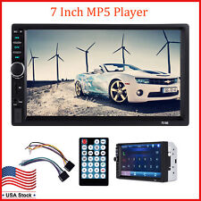"7"" Double DIN Car Stereo Radio Bluetooth Audio Receiver Touch Screen USB AUX TF"